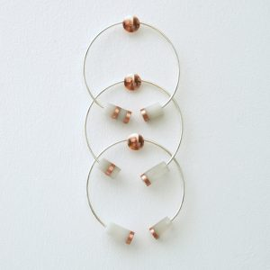Bracelets jonc argent cuivre accumulation mariage