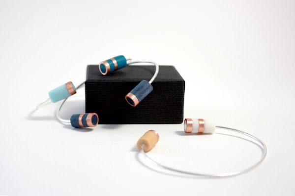 Bracelet jonc ONDEE couleurs printanières